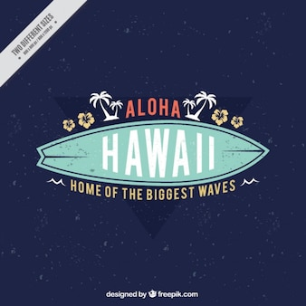 Fondo aloha con tabla de surf