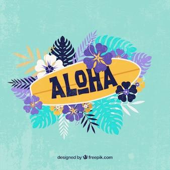 Fondo aloha tabla de surf