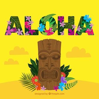Fondo aloha con totem