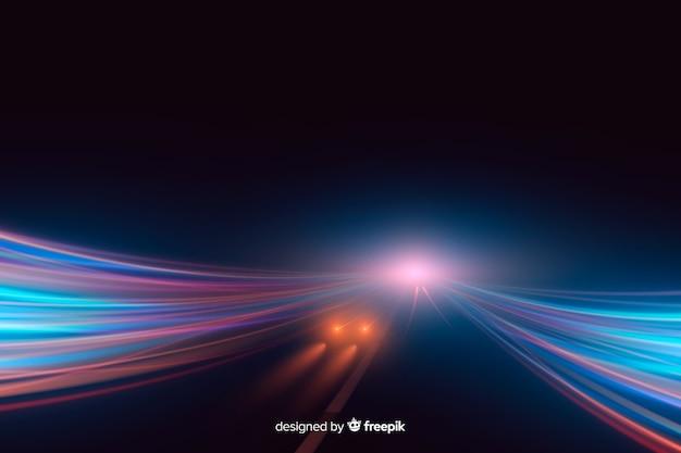 Fondo de alta velocidad de sendero de luces