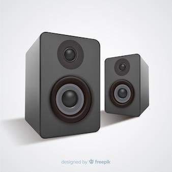 Fondo altavoz realista 3d negro