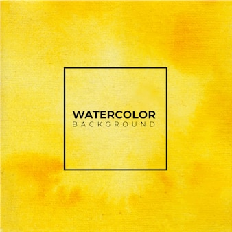 Fondo amarillo abstracto pintado acuarela sobre papel