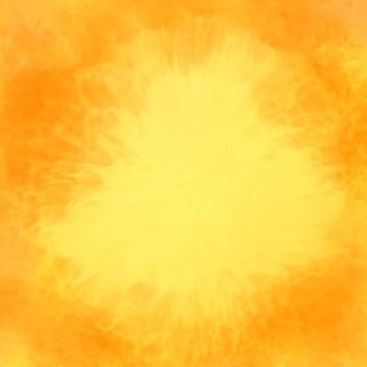 Fondo amarillo abstracto de la textura de la acuarela