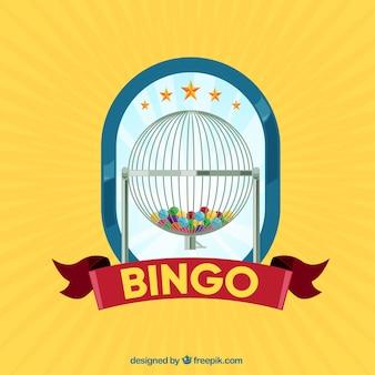 Fondo amarillo de bingo