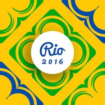 Fondo amarillo de brasil con formas abstractas