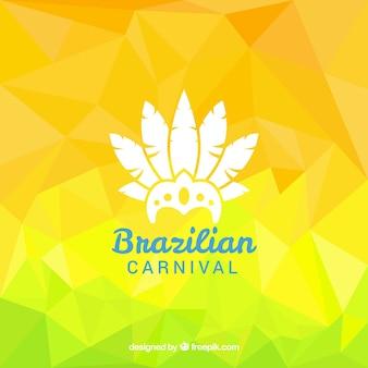 Fondo amarillo de carnaval brasileño