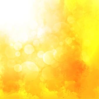 Fondo amarillo de la acuarela