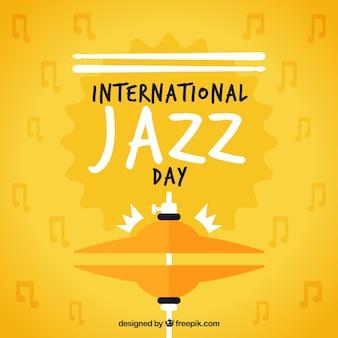 Fondo amarillo del día internacional de jazz