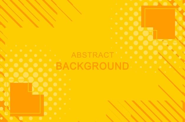 Fondo amarillo con elementos de memphis.