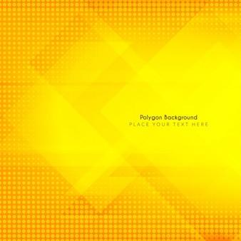 Fondo amarillo con formas poligonales y semitonos