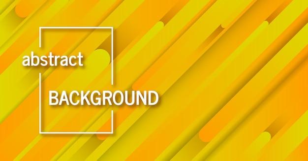 Fondo amarillo geométrico de moda con líneas abstractas. diseño de banner. patrón dinámico futurista. ilustración vectorial