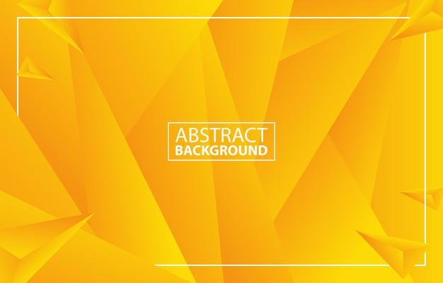 Fondo amarillo geométrico moderno abstracto