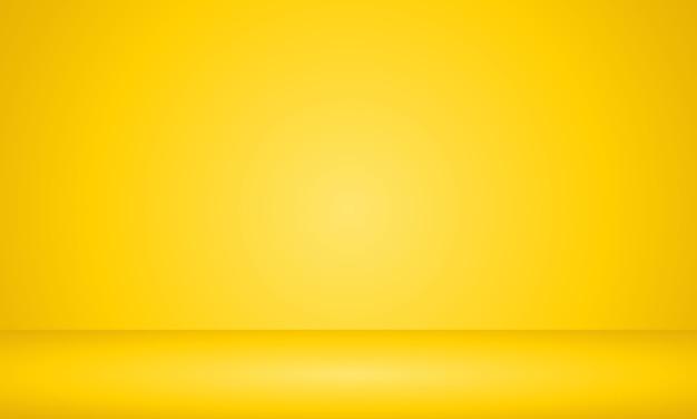 Fondo amarillo habitación vacía