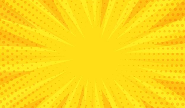 Fondo amarillo moderno abstracto