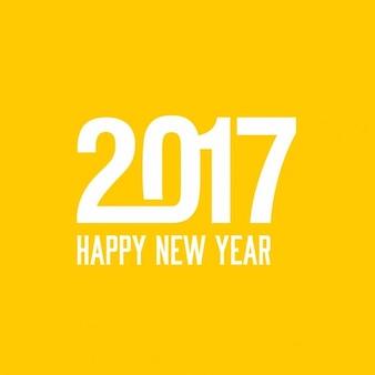 Fondo amarillo para el nuevo año 2017