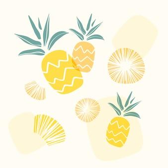 Fondo amarillo de piña
