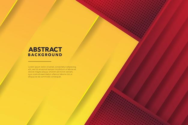 Fondo amarillo rojo abstracto geométrico moderno