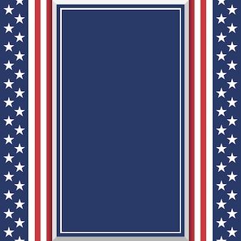 Fondo americano abstracto en blanco. plantilla de cartel o folleto. ilustración.