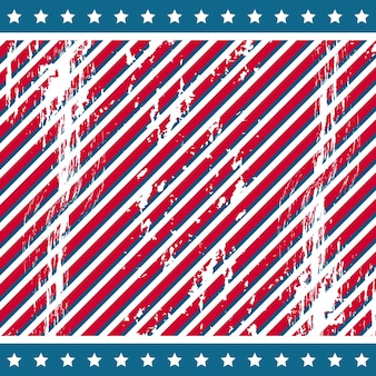 Fondo americano con estrellas grunge vector illustration