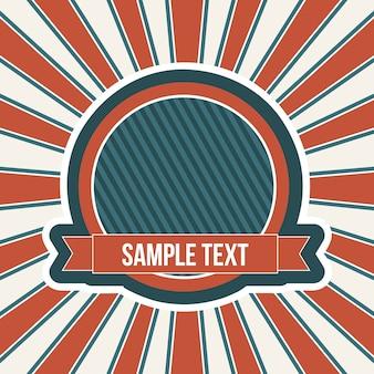 Fondo americano con etiqueta vector vintage ilustración