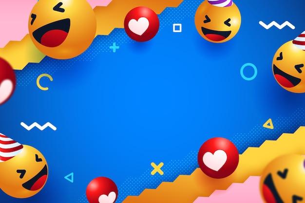 Fondo de amor emoji de estilo realista