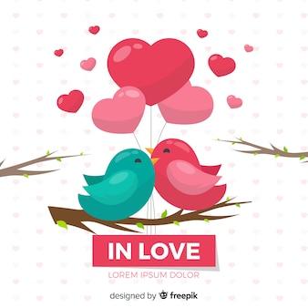 Fondo de amor de pájaros