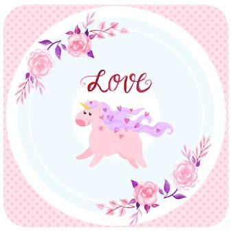 Fondo de amor unicornio