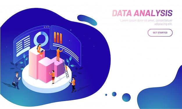 Fondo de análisis de datos.