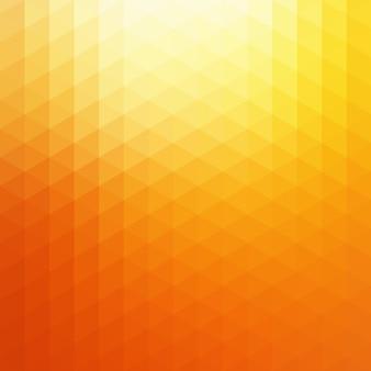 Fondo anaranjado abstracto del triángulo de la luz del sol. ilustración de telón de fondo brillante geométrico amarillo soleado.
