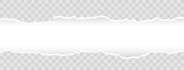 Fondo ancho de banner de papel rasgado rasgado