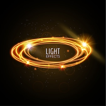 Fondo de anillos de efectos de luz