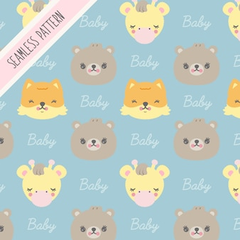 Fondo de animales bebés premium