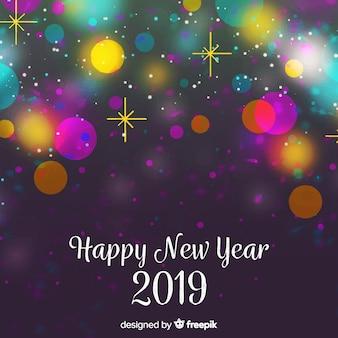 Fondo de año nuevo 2019 en acuarela