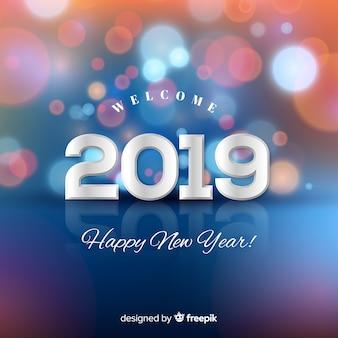 Fondo de año nuevo 2019 borroso