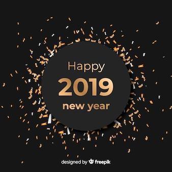 Fondo de año nuevo 2019 con confeti