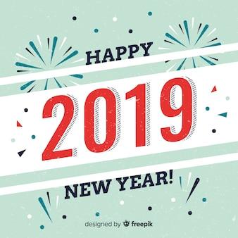 Fondo año nuevo 2019 vintage