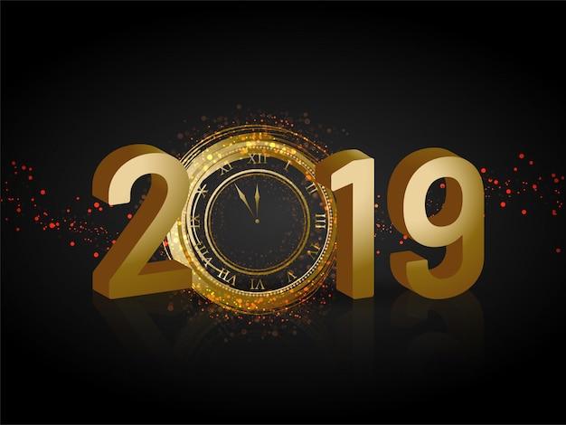 Fondo de año nuevo 2019.