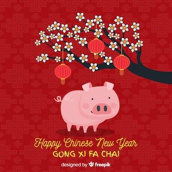 Fondo de año nuevo chino 2019