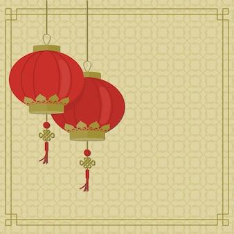 Fondo de año nuevo chino tradicional