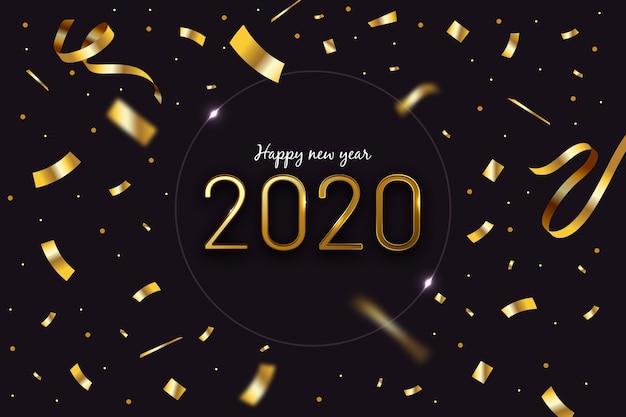 Fondo de año nuevo de confeti