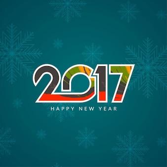 Fondo de año nuevo con copos de nieve