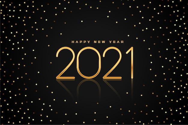 Fondo de año nuevo dorado y negro con brillo