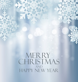 Fondo de año nuevo y feliz navidad