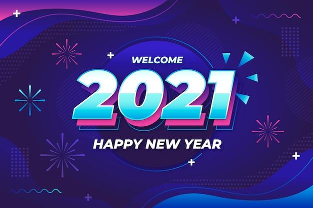 Fondo de año nuevo con fuegos artificiales abstractos