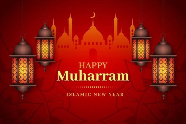 Fondo de año nuevo islámico realista