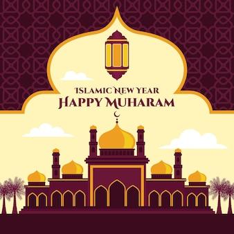 Fondo de año nuevo islámico