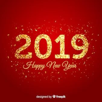 Fondo año nuevo oro