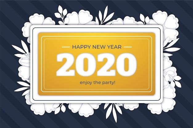 Fondo de año nuevo en papel