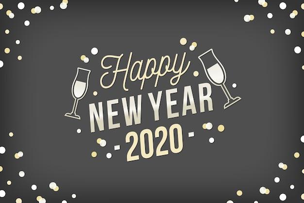 Fondo año nuevo plata