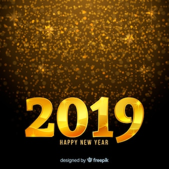 Fondo año nuevo puntos dorados